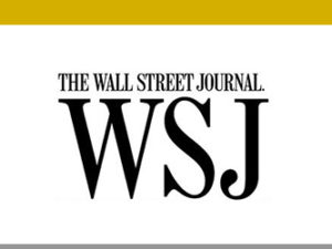 PRESS MENTION | Wall Street Journal